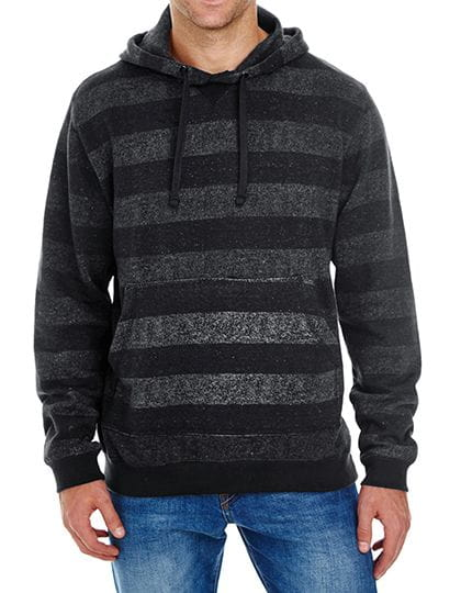 Printed Striped Marl Pullover Black - Charcoal (Striped)