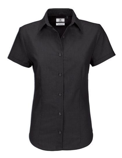 Oxford Shirt Short Sleeve / Women Black