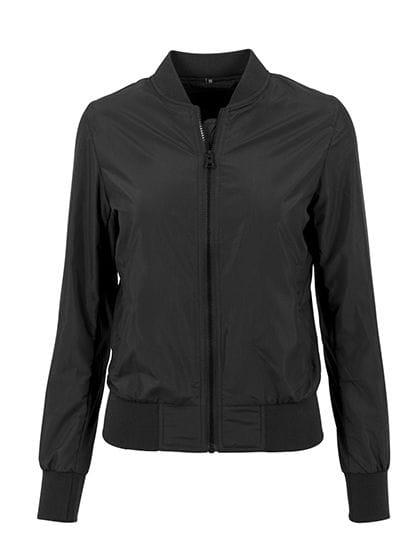 Ladies` Nylon Bomber Jacket Black
