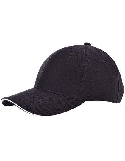 Heavy Brushed Cap Black / White
