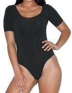 Women`s Jersey Short Sleeve Double U-Neck Bodysuit