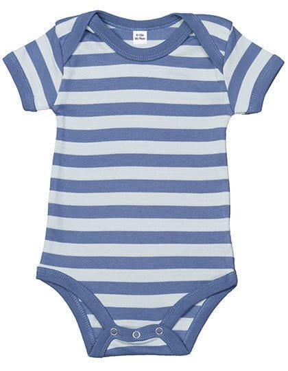 Baby Stripy Bodysuit Antique Blue / Dusty Blue