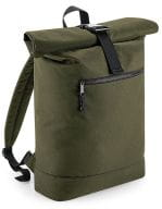 Recycled Roll-Top Backpack Military Green