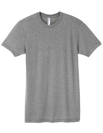 Unisex Tri-Blend Track T-Shirt Athletic Grey
