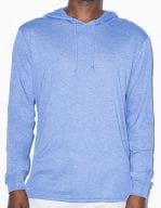 Unisex Tri-Blend Longsleeve Hoodie Athletic Blue