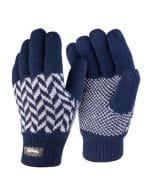 Pattern Thinsulate Glove Navy / Grey