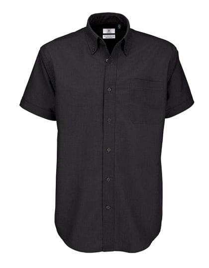 Shirt Oxford Short Sleeve /Men Black