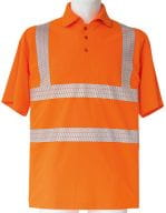 Hi-Viz Broken Reflective Polo Shirt EN ISO 20471 Signal Orange