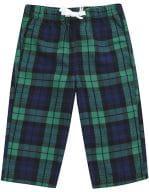 Baby Tartan Trousers Navy-Green Check