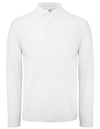 Long Sleeve Polo ID.001 / Unisex White