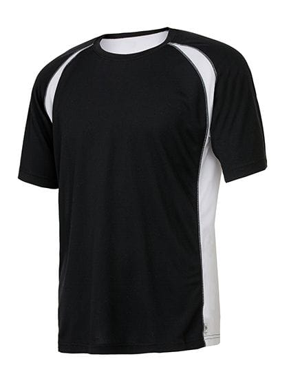 Unisex Colorblock Short Sleeve Tee Black / White / Grey (Solid)