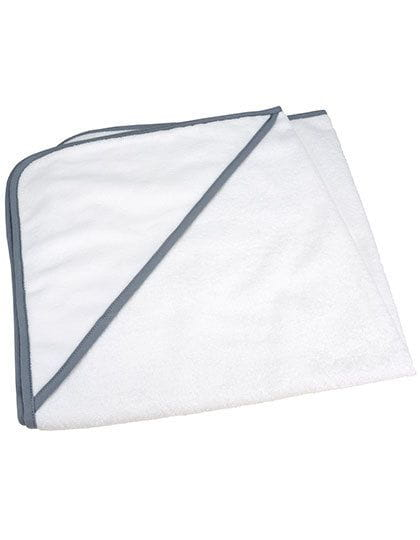 Babiezz® ALL-Over Sublimation Hooded Towel White / Anthracite Grey
