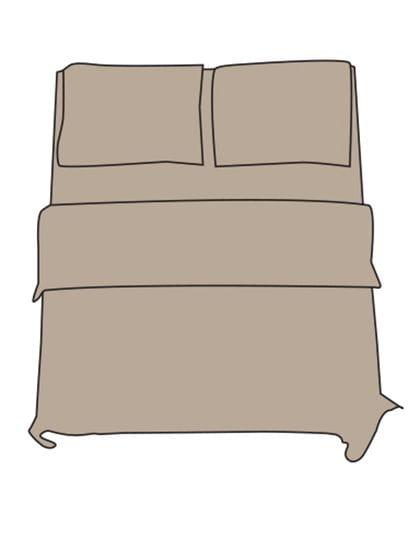 Flat Sheet - Double L Chateau Grey