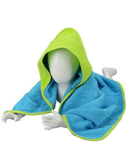 Babiezz® Hooded Towel Aqua Blue / Lime Green / Lime Green