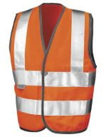 Junior Safety Hi-Viz Vest Fluorescent Orange