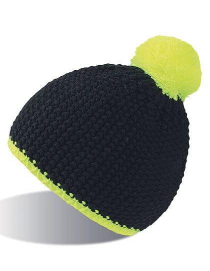 Peak Hat Black / Yellow Fluo