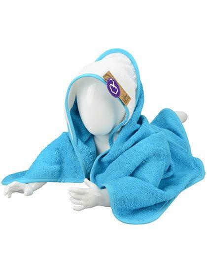 Babiezz® Hooded Towel Aqua Blue / White / Aqua Blue