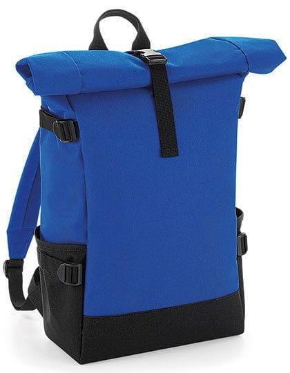 Block Roll-Top Backpack Bright Royal / Black