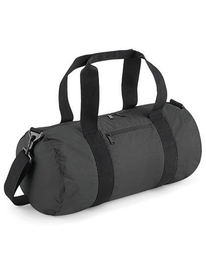 Reflective Barrel Bag Black Reflective