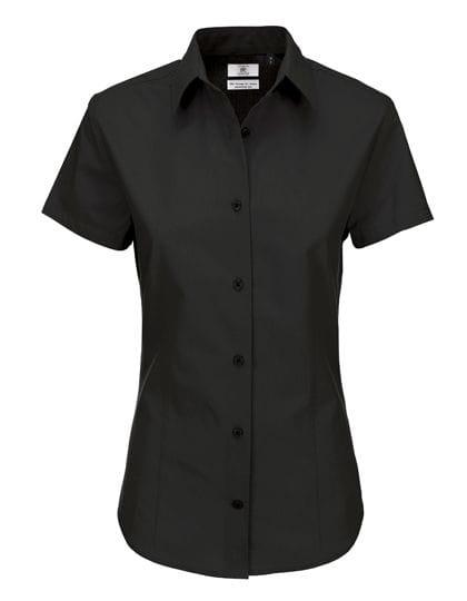 Poplin Shirt Heritage Short Sleeve / Women Black