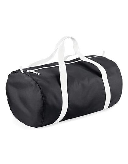 Packaway Barrel Bag Black / White
