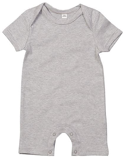 Baby Striped Playsuit White / Heather Grey Melange