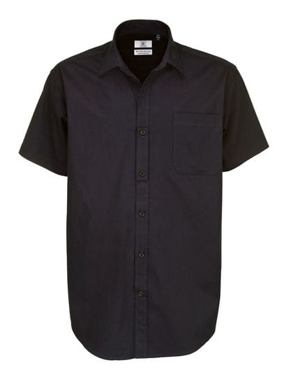 Twill Shirt Sharp Short Sleeve / Men Black