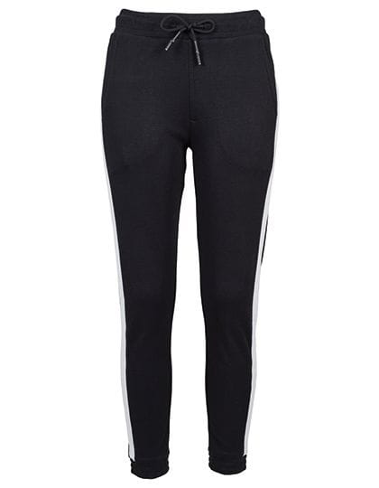 Ladies Interlock Jogpants Black / White