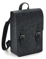 Premium Felt Backpack Charcoal Melange / Black