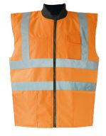 Hi-Viz Reversible Bodywarmer EN ISO 20471 Signal Orange