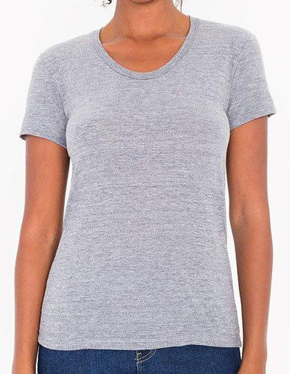 Women`s Tri-Blend Track T-Shirt Athletic Grey