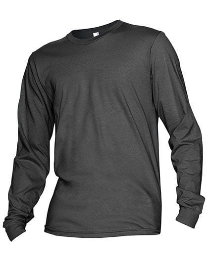 Unisex Fine Jersey Long Sleeve T-Shirt Asphalt