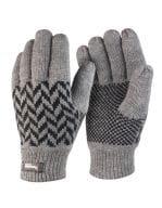 Pattern Thinsulate Glove Grey / Black